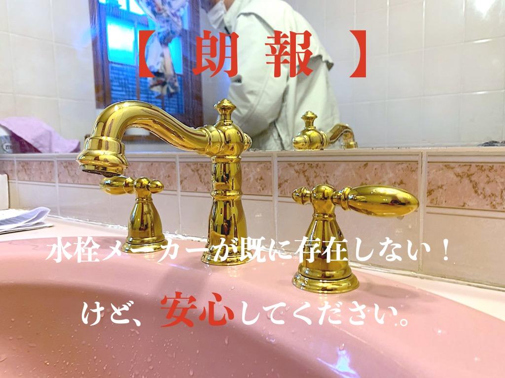 輸入水栓がついていた洗面水栓をデルタ水栓(DELTA faucet)に交換しました。